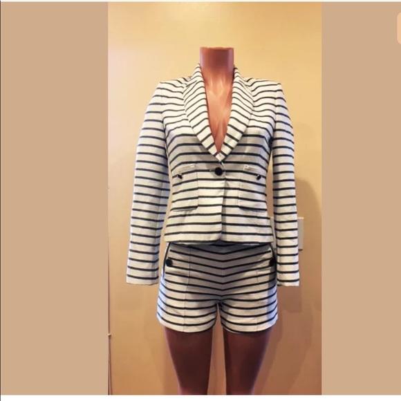 2ba281ed6d Zara Blue White Striped Sailor Blazer & Short Set.  M_5af32a61caab44fa1901965d